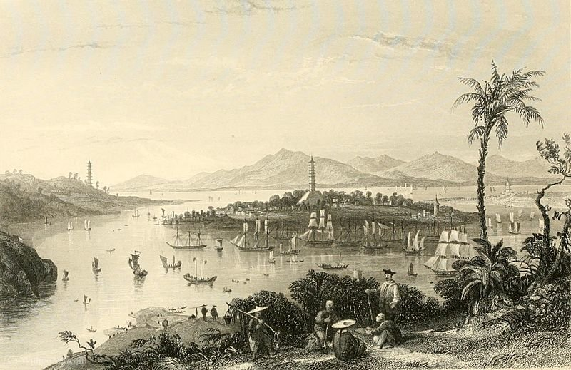 Whampoa da Ilha do Dane por Thomas Allom (1804-1872, United Kingdom)