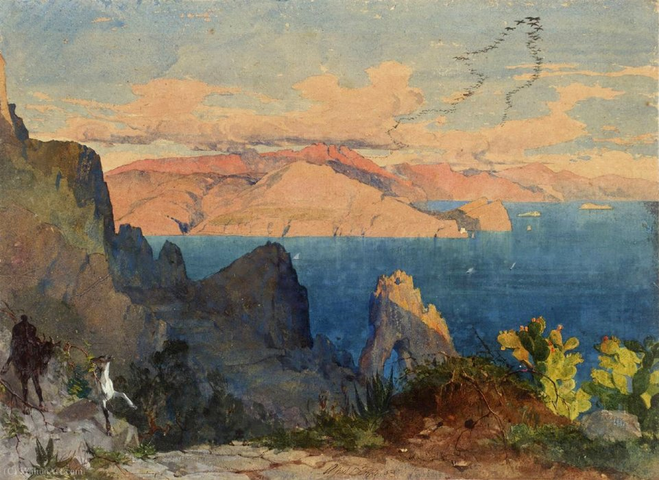 Capri por Alfred Downing Fripp (1822-1895, United Kingdom)