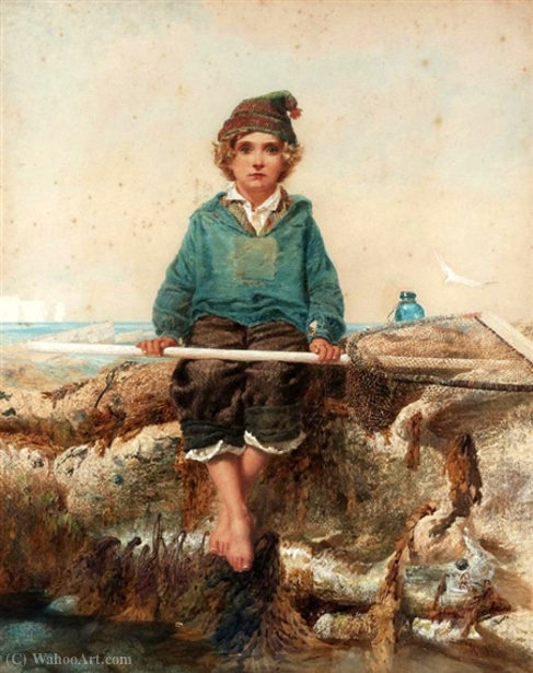 O pequeno shrimper por Alfred Downing Fripp (1822-1895, United Kingdom)