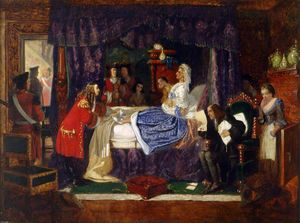 Arthur Boyd Houghton - A cena do quarto