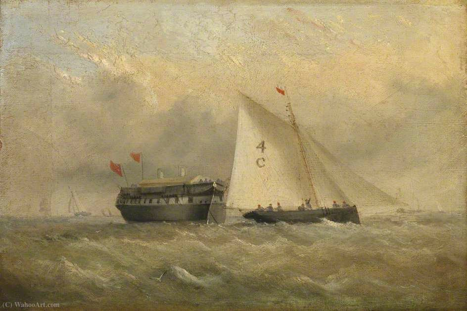 The Pilot cortador Fox `e uma quarentena Hulk off Binstead por Arthur Wellington Fowles (1815-1883, United Kingdom) | Copy Pintura | WahooArt.com