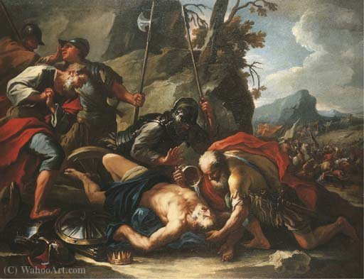 A morte do rei Josias por Francesco Conti (1681-1760, Italy)