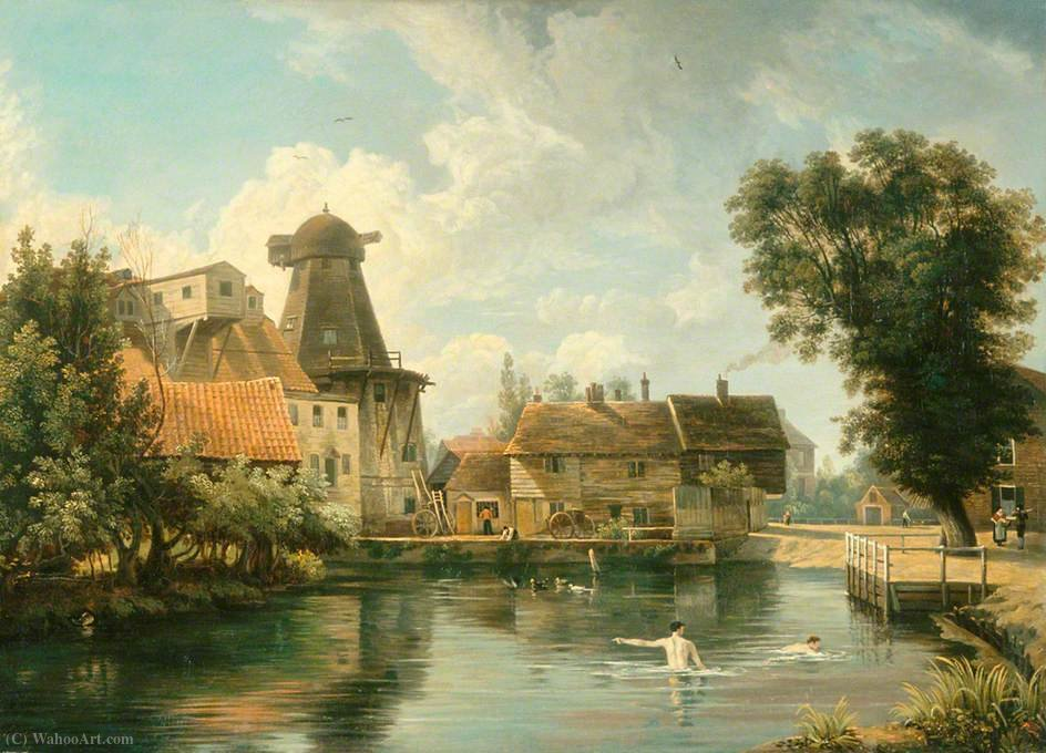 A millpool Norfolk por George Vincent (1796-1831, United Kingdom)