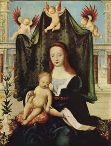 Hans Holbein The Elder - Madonna and Child