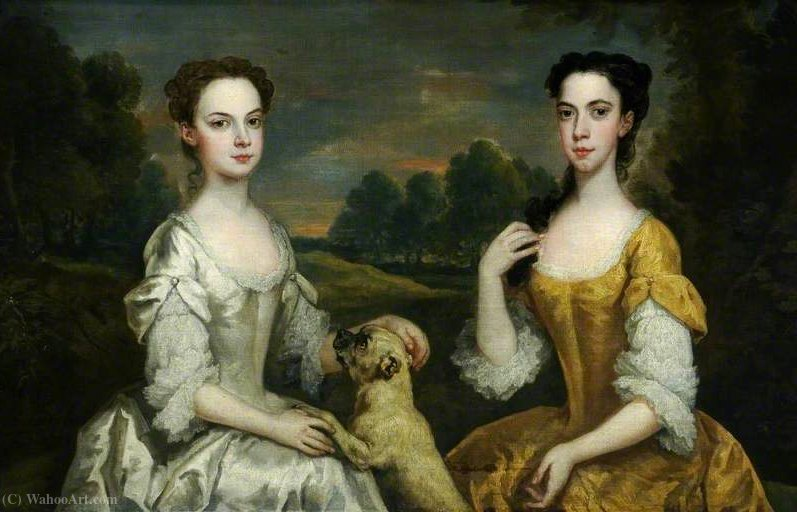 Anne e Mary Tonson por John Vanderbank (1694-1739, United Kingdom)