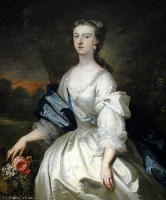 Catherine Harpur (d.1740), senhora Gough por John Vanderbank (1694-1739, United Kingdom)