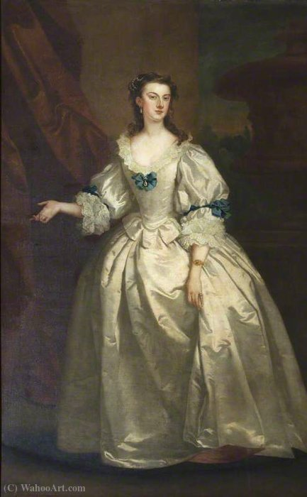 A Sra Mary Howard (1710 1740), a Sra George Venables-Vernon por John Vanderbank (1694-1739, United Kingdom)