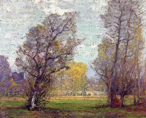 Robert William Vonnoh - Nuvens e fulgor, Outono, França