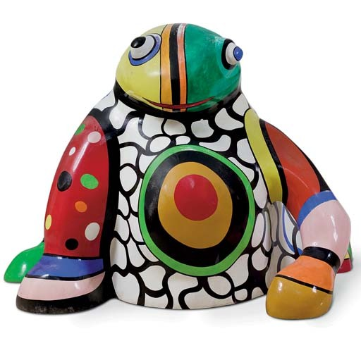 Grenouille recipiente por Niki De Saint Phalle (1930-2002, France)