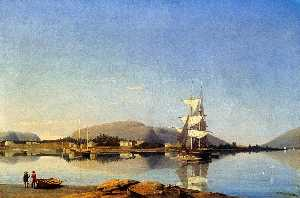 Fitz Hugh Lane - Entrada do Som Somes de Southwest Harbor