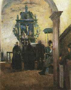 Harriet Backer - Alteret eu Tanum kirke