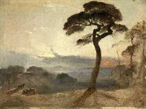 James Francis Danby - Hampstead Charneca , Sol