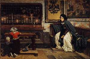 James Jacques Joseph Tissot - Margarida dentro de  Igreja