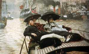 James Jacques Joseph Tissot - Inglês a thames deutsch die themse