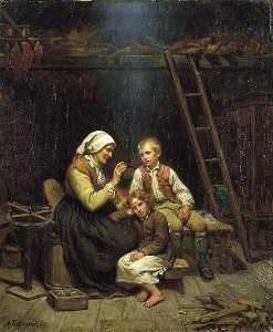 Adolph Tidemand - Grandmother's Conto