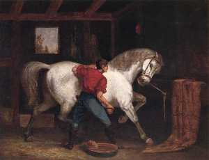 Edward Mitchell Bannister - Governador Sprague's cavalo branco