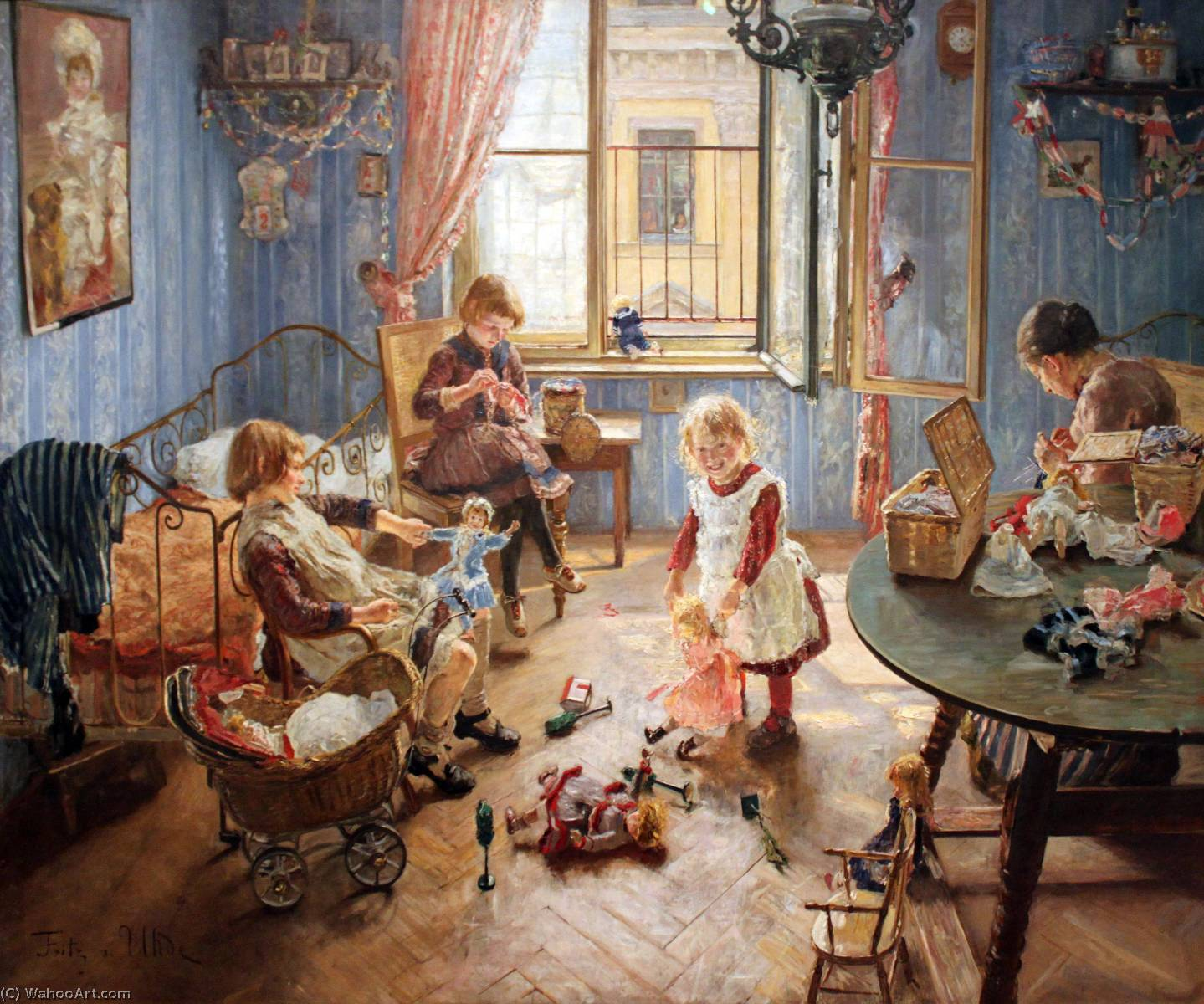 Inglês Children's Creche deutsch die kinderstube русский питомник, 1889 por Fritz Von Uhde (1848-1911)