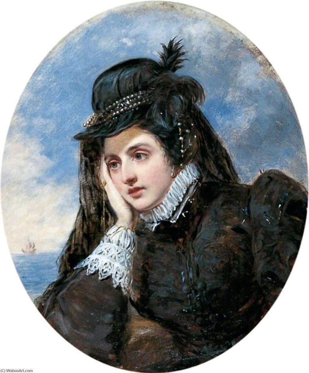 L'adieu o marie stuart, óleo sobre tela por William Powell Frith (1819-1909, United Kingdom)