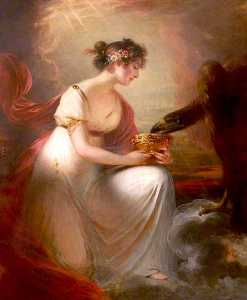William Beechey - frances wyndham , Mais tarde Senhora Burrell , como Hebe