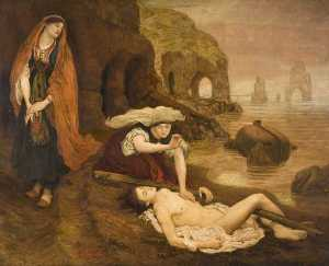 Ford Madox Brown - Encontrar de Don Juan por Haydée