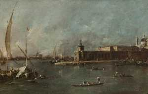 Francesco Lazzaro Guardi - O Dogana Veneza