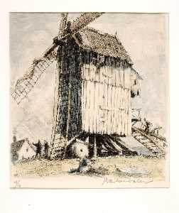 Herman Armour Webster - le moulin zacharie , Franleu