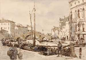 Herman Armour Webster - le tre archi , Cannaregio , Veneza