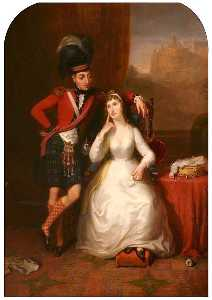 James Giles - Casamento Retrato de Tenente Coronel james stewart para williamina kerr , 1803