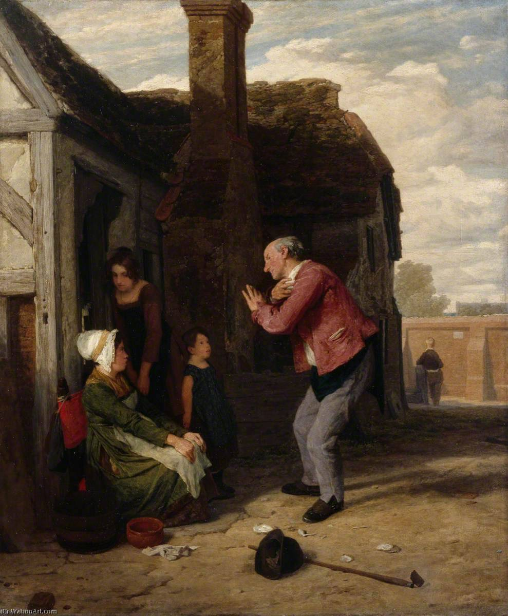 a Vila arlequim , óleo sobre tela por William Mulready The Younger (1786-1863, Ireland)