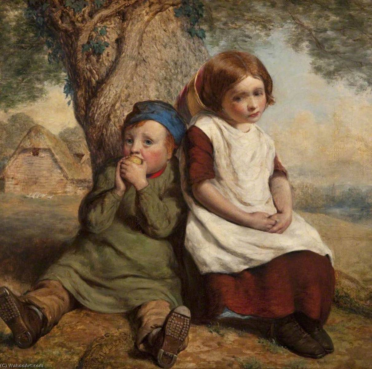 o Monopolista , óleo sobre tela por William Mulready The Younger (1786-1863, Ireland)