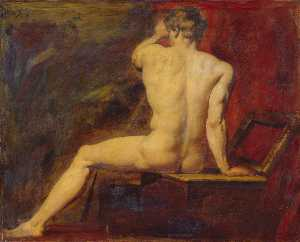 William Etty - estudo de Masculino  despido