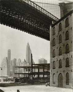 Berenice Abbott - ponte de brooklyn , Água e new dock Ruas , Brooklyn