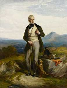 William Allan - Senhor walter scott 1771–1832   romancista  e  poeta