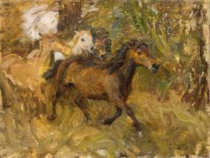 Alfred James Munnings - Cruzando A Ford