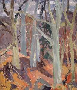 William George Gillies - Bosques em arniston , Midlothian