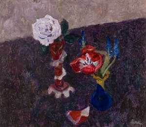 William George Gillies - o azul Rosa