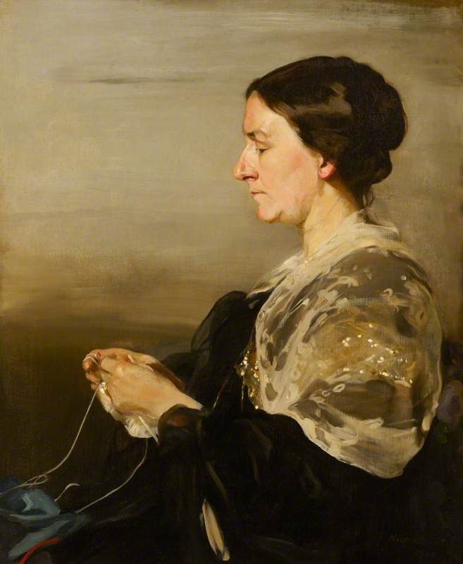 Margaret Agro ( 1847–1936 ) , sra. james samuel beale, 1911 por William Newzam Prior Nicholson (1872-1949, United Kingdom) | Copy Pintura | WahooArt.com