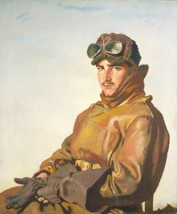 Um Aviador Tenente reginald theodore carlos hoidge ( 1894–1963 ) , MC, 1917 por William Newenham Montague Orpen (1878-1931, Ireland) | WahooArt.com