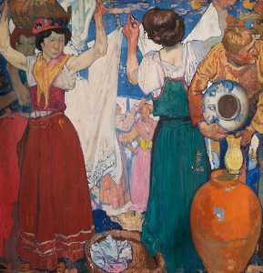 Frank William Brangwyn - Os Washerwomen