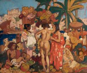 Frank William Brangwyn - Oeste indiano  bazar