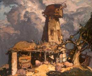 Frank William Brangwyn - Uma Kentish Moinho