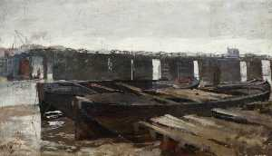 Frank William Brangwyn - Battersea Ponte