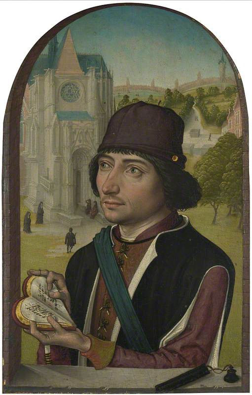 Retrato de um Jovem, Petróleo por Master Of The View Of Saint Gudule