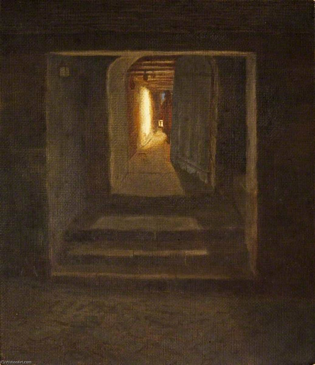 Uma Noturno Interior , st kitts, Petróleo por Charles Paget Wade (1883-1956, United Kingdom)