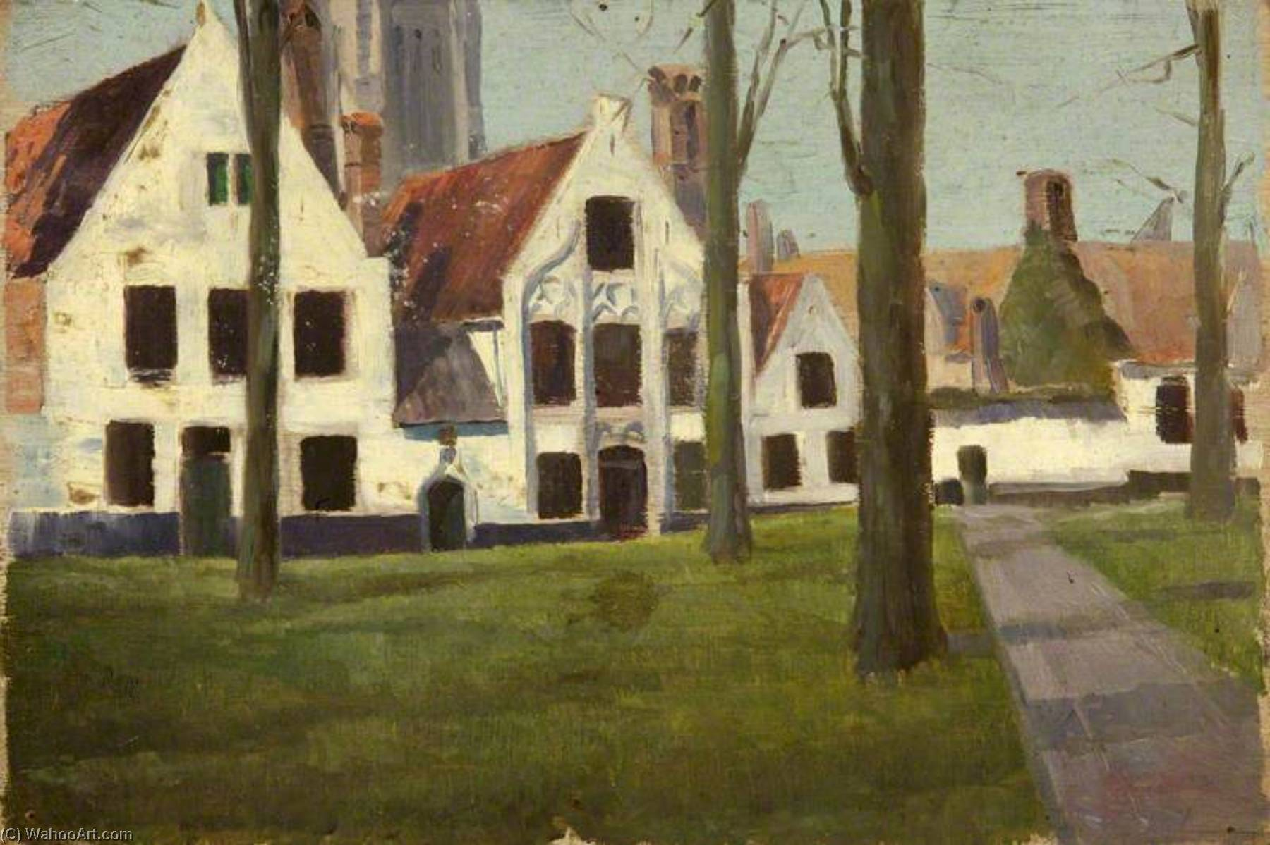 o Beguinaria , Bruges, Petróleo por Charles Paget Wade (1883-1956, United Kingdom)
