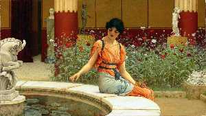 John William Godward - o peixe lago