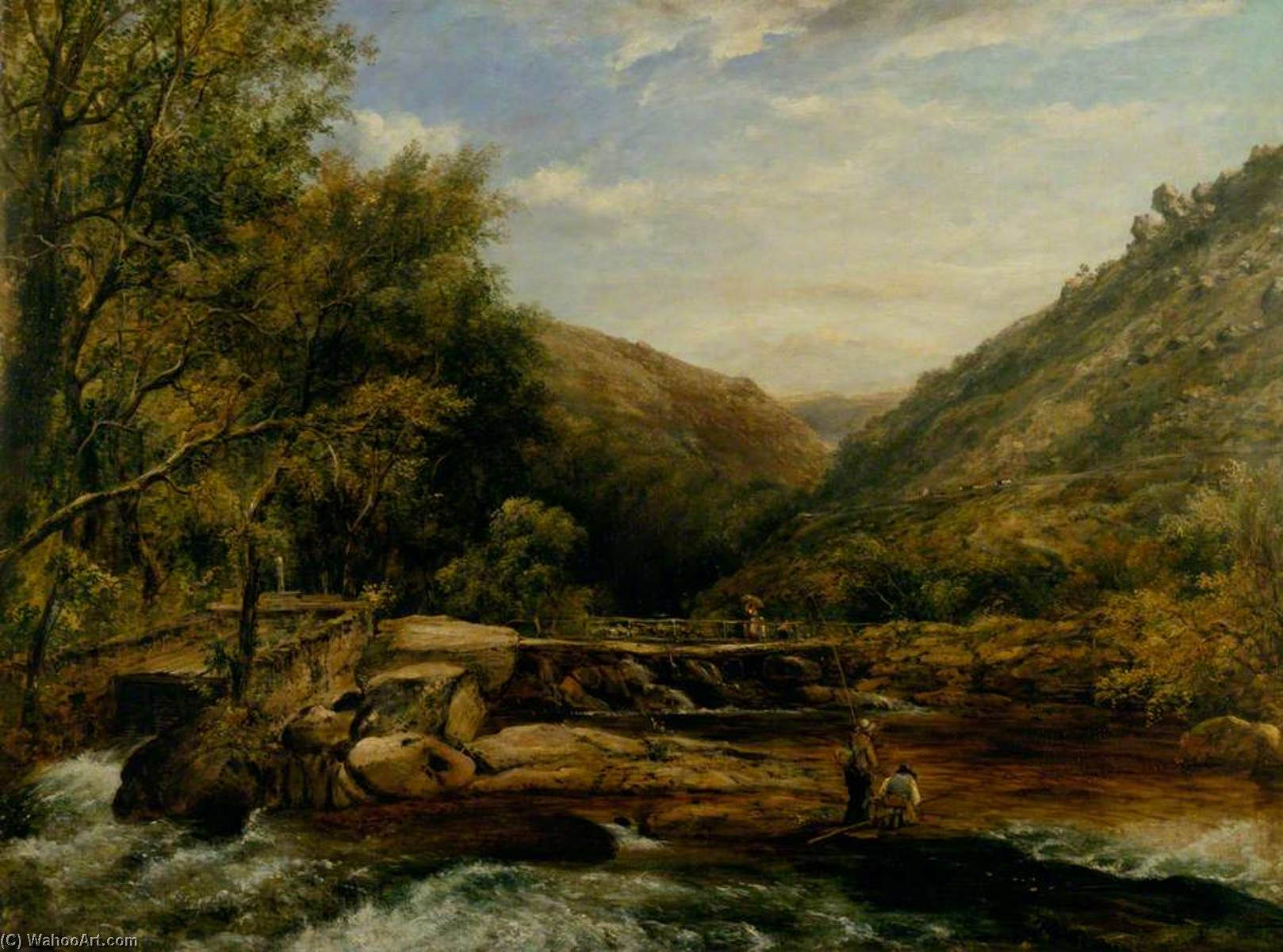 Jackson`s Ponte , Cumberland por Frederick Waters (William) Watts (1800-1870, United Kingdom) | Reprodução Da Arte | WahooArt.com