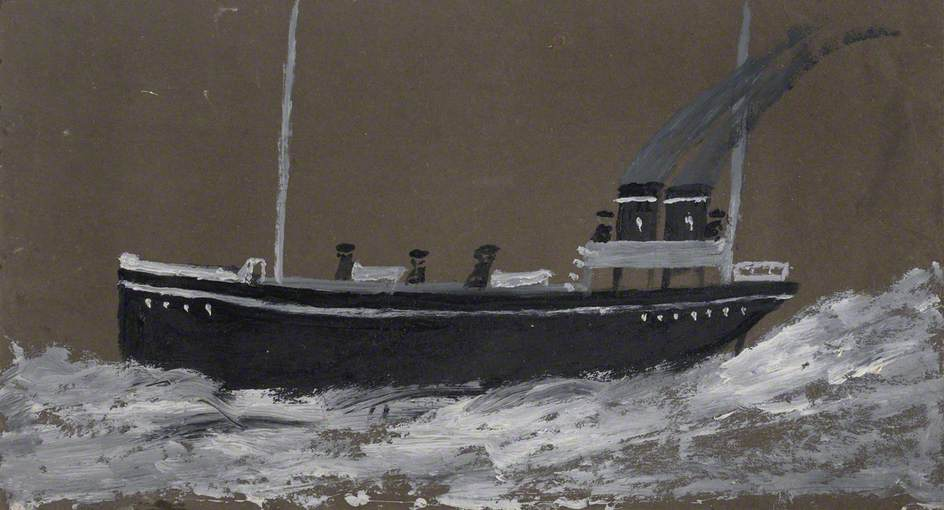 morte navio , 1942 por Alfred Wallis (1855-1942, United Kingdom) | Copy Pintura | WahooArt.com