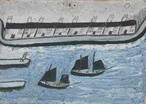 Alfred Wallis - Casas no o Water's Beira ( Porthleven )