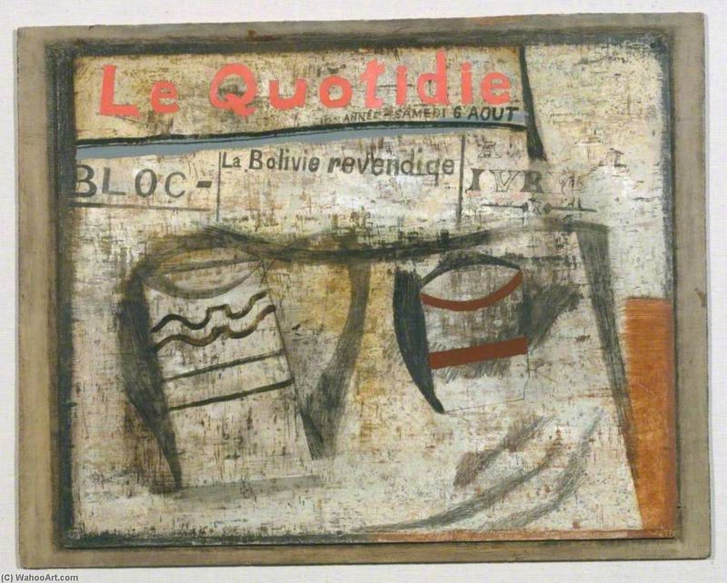 1932 ( le quotidien ), Petróleo por Ben Nicholson (1894-1982, United Kingdom)